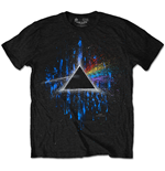 Pink Floyd Men's Special Edition Tee: Dark Side of the Moon Blue Splatter