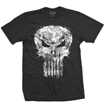 Marvel Comics Men's Tee: Punisher Skull Spiked