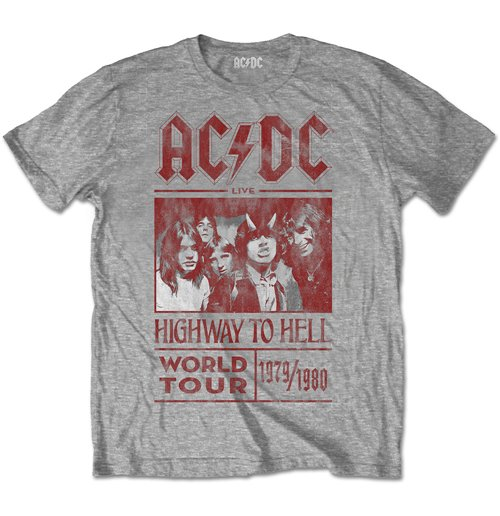 AC/DC Men's Special Edition Tee: Highway to Hell World Tour 1979/1980