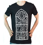 THE ELDER SCROLLS V Skyrim Talos Chapel Stained Glass Window T-Shirt, Medium, Black