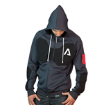 TITANFALL 2 Pilot Sport Cut Full Length Zipper Hoodie, Extra Large, Dark Grey
