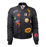 Marvel - Female Black Bomber Jacket with Hero Patches