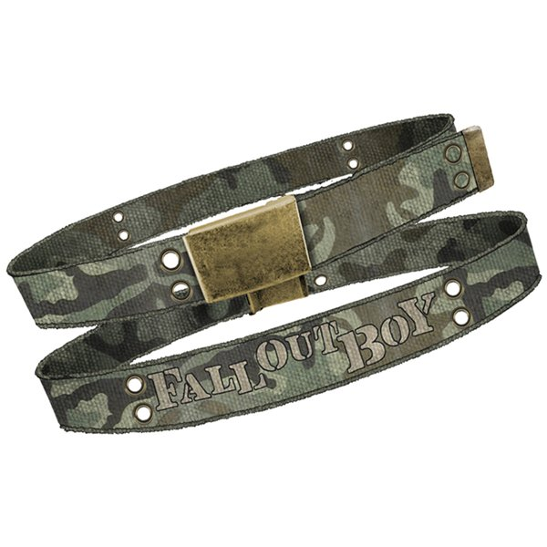 Fall Out Boy - Canv Web/Blk Hit Log Belt