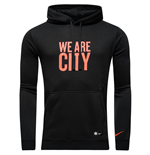 2016-2017 Man City Nike Core Hooded Top (Black)