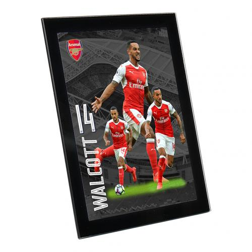 Arsenal F.C. Glass Player Profile Walcott 8 x 6