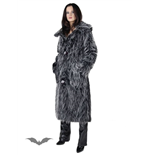 Long black / grey fur coat