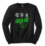 Green Day Men's Long Sleeved Tee: Drips
