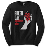 Green Day Men's Long Sleeved Tee: American Idiot