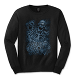 Avenged Sevenfold Men's Long Sleeved Tee: Chained Skeleton