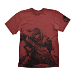 GEARS OF WAR 4 Men's Fenix T-Shirt, Medium, Dark Red