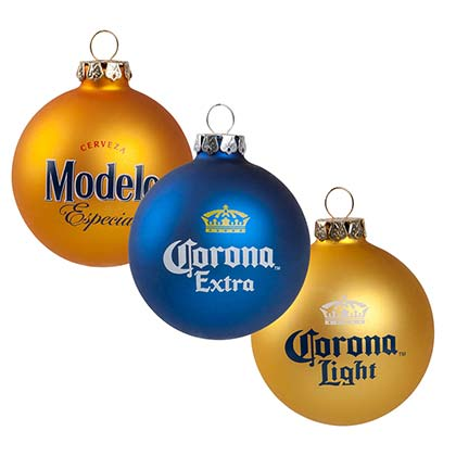 CORONA EXTRA And Modelo Holiday Ornaments