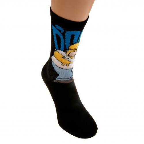 Simpsons Socks 1 Pack Mens 6-11 DOH