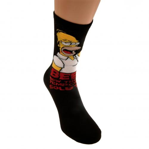 Simpsons Socks 1 Pack Mens 6-11 BE