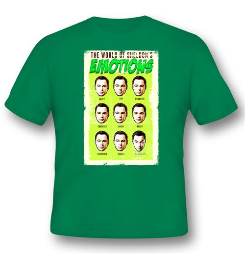 Big Bang Theory T-shirt World Of SHELDON'S Emotions