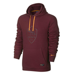 2016-2017 AS Roma Nike Core Hooded Top (Team Red) - Kids
