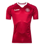 2017-2018 Denmark Home Hummel Football Shirt