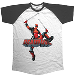Marvel Comics Men's Raglan Tee: Logo Jump