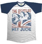 The Beatles Men's Raglan Tee: Hey Jude Windswept