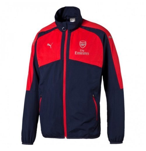 2016-2017 Arsenal Puma Casual Performance Woven Jacket (Peacot-Red)