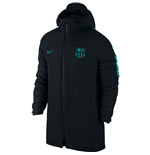2016-2017 Barcelona Nike Hooded Stadium Jacket (Black-Energy)