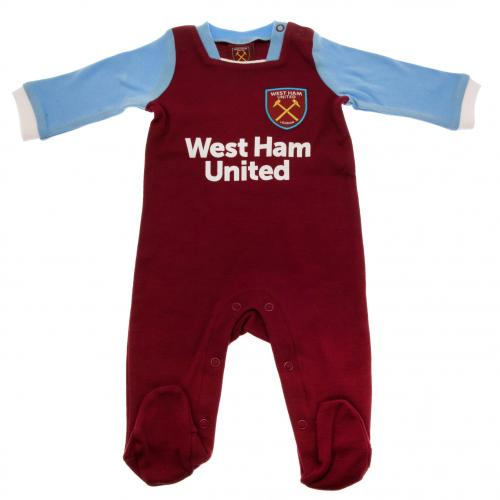 West Ham United F.C. Sleepsuit 0/3 mths