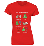 Pusheen Ladies T-Shirt How To Catch Santa