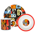 Star Wars Episode VII Breakfast Set The Force Awakens Retro --- DAMAGED PACKAGING