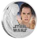 Star Wars Episode VII 1 Oz Silver Coin Rey
