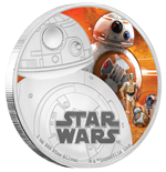Star Wars Episode VII 1 Oz Silver Coin BB-8