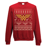 Wonder Woman - Fair Isle Logo - Unisex Crewneck Sweatshirt Red