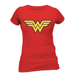 Wonder Woman - Logo - Women Fitted T-shirt Red