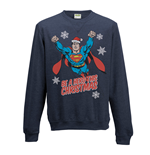 Superman - Christmas Hero - Unisex Crewneck Sweatshirt Blue