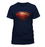 Superman - Textured Logo - Unisex T-shirt Blue
