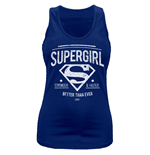 Supergirl - Better Than Ever - Women Fitted Vest Blue
