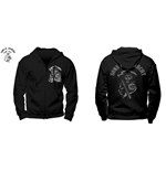 Sons Of Anarchy - Samcro - Unisex Zipped Hooded Sweatshirt Black