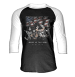 Kiss - Made In America - Unisex Baseball Shirt Black