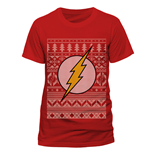 The Flash - Fair Isle Logo - Unisex T-shirt Red