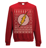The Flash - Fair Isle Logo - Unisex Crewneck Sweatshirt Red