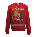 Batman - Robin & Santa - Unisex Crewneck Sweatshirt Red