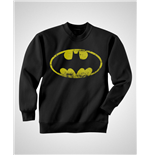 Batman - Distressed Logo - Unisex Crewneck Sweatshirt Black