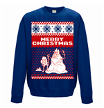 Adventure Time - Merry Christmas - Unisex Crewneck Sweatshirt Blue