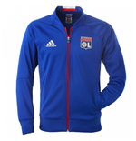 2016-2017 Olympique Lyon Adidas Anthem Jacket (Blue)