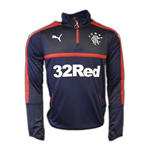 2016-2017 Rangers Puma Half Zip Training Top (Navy)