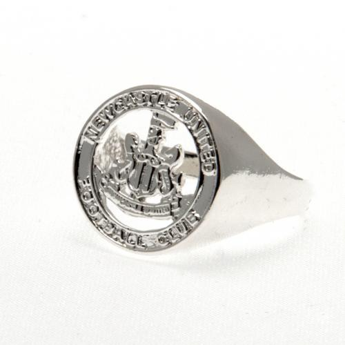 Newcastle United F.C. Silver Plated Crest Ring Large