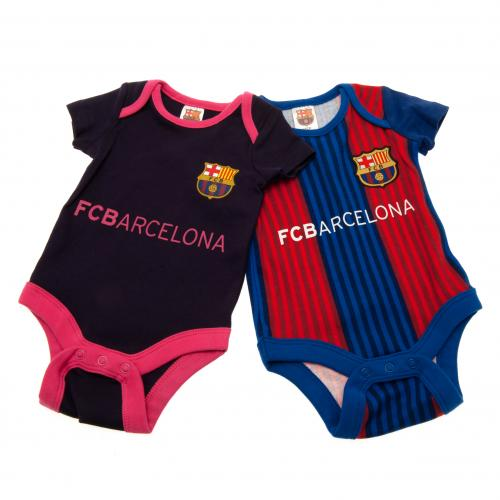 F.C. Barcelona 2 Pack Bodysuit 6/9 mths VS