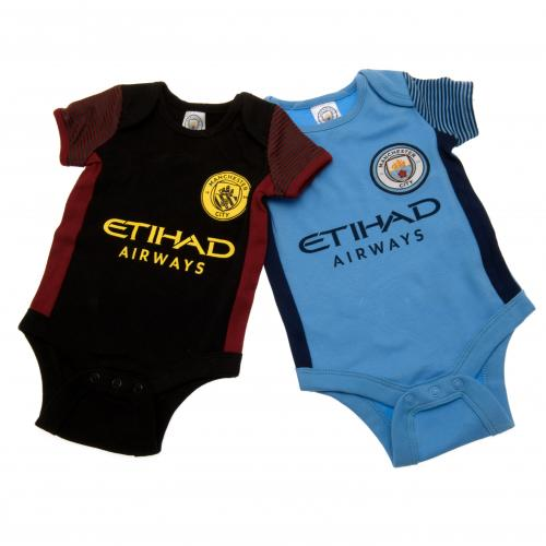 Manchester City F.C. 2 Pack Bodysuit 3/6 mths ST