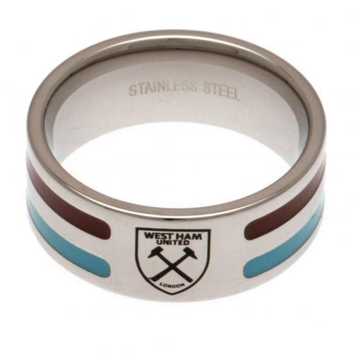 West Ham United F.C. Colour Stripe Ring Large