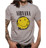 Nirvana - Smiley Splat - Unisex T-shirt Grey