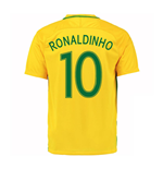 2016-17 Brazil Home Shirt (Ronaldinho 10) - Kids