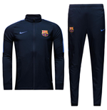 2016-2017 Barcelona Nike Squad Woven Tracksuit (Navy)